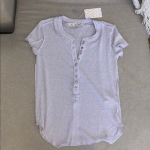 Free People button up tee NWT